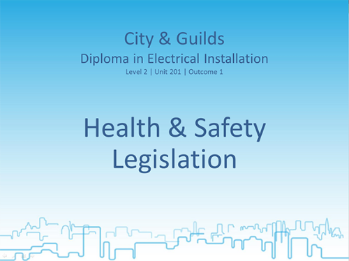 Picture of Lessons for Diploma in Electrical Installations (Health & Safety)