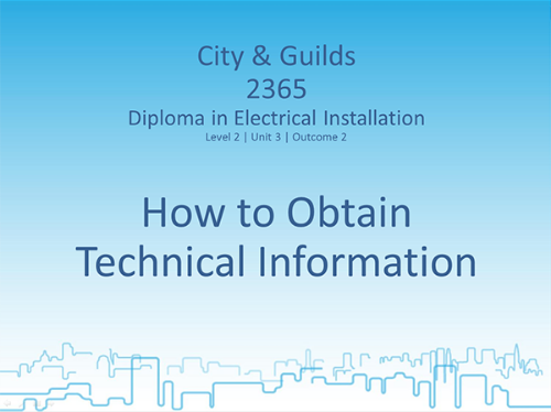 Picture of Lessons for Diploma in Electrical Installations (Electrical Technology)