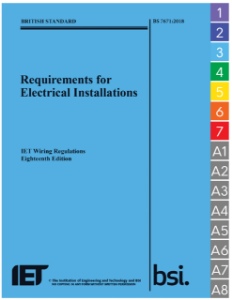 Picture of Requirements for Electrical Installations BS 7671:2018 (IET Wiring Regulations 18th Edition) with Flag Tags